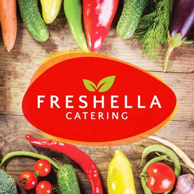 Freshella Logo used for the vegetarian burger, gourmet tarts