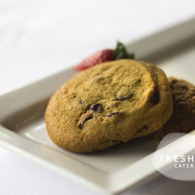 Fresh baked chocolate cookies