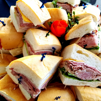 Party Platter with Mini Sandwiches