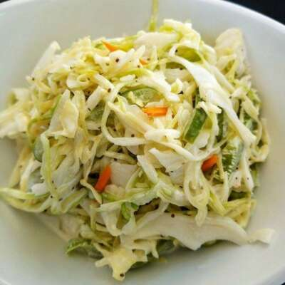 Coleslaw with Shredded Cabbage, Carrots, Peppers
