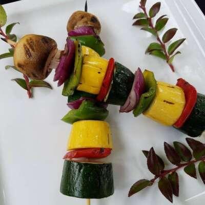Skewers of fresh vegtables