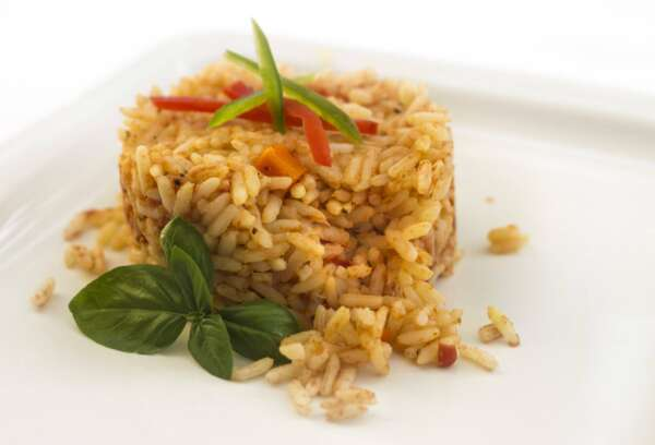 Rice with peppers