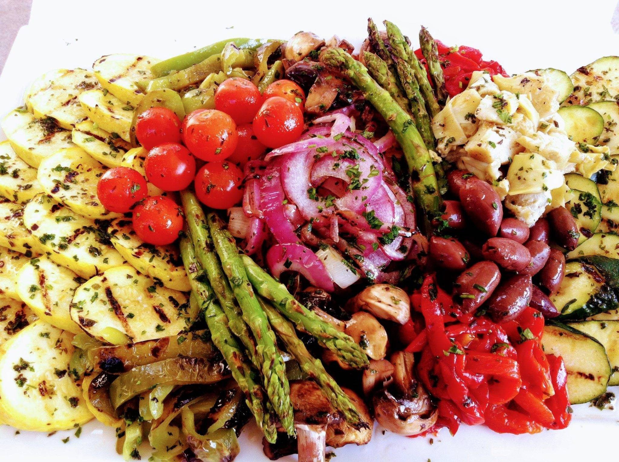 Assorted Grilled Vegetable Platter